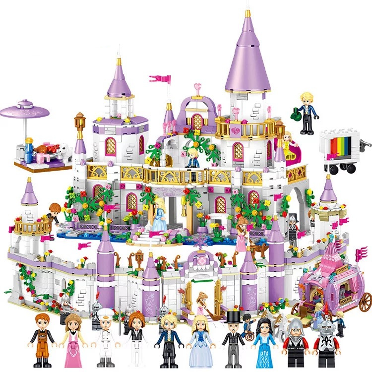 Legoing  Princess Castle Girls Friends Windsor Castle QL1106 Building Blocks Princess Bricks 41148 Toys For Girl Christmas Gift