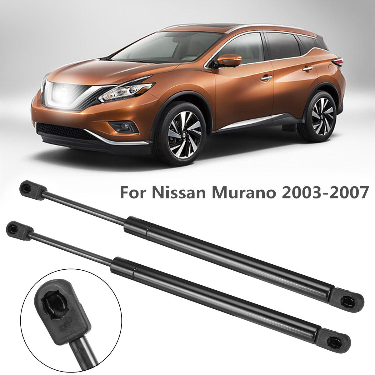 MYSMOT 2Pcs Front Hood Lift Supports Struts Shocks Spring Dampers For Nissan Murano 2003-2007 Hood 6328,SG325019,65471CA000
