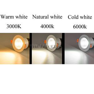 Image 5 - Special white led spot Mini 3W 5W 7W COB LED Downlight Dimmable Recessed Lamp Light best for ceiling home office hotel 110V 220V