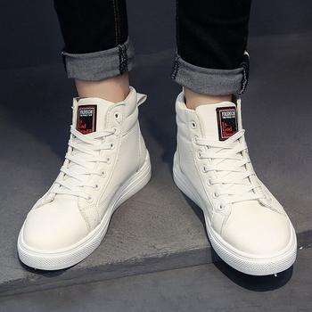 Buty zimowe męskie białe buty białe buty męskie Gao Bang brezentowe buty zimowe buty śniegowe buty skórzane obuwie męskie tanie i dobre opinie UNICORN RABBIT Mesh (air mesh) Przypadkowi buty Zima Gumowe fashonshow Lace-up Stałe Dla dorosłych Masaż Wodoodporna