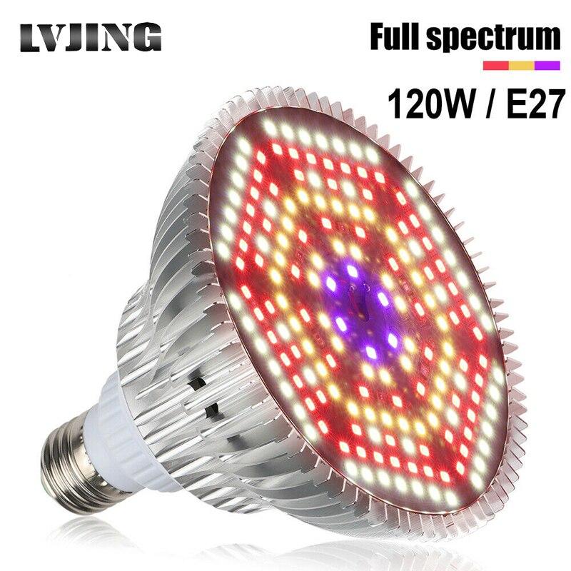Full Spectrum Plant Grow Led Light 120W Bulbs Lamp Lighting For Seed Hydro Flower Greenhouse Veg Indoor Garden E27 Phyto Growbox
