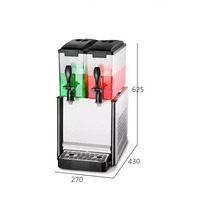 12L * 3 商業コールド飲料機三瓶冷温混合セルフサービス飲料機コールドとホット飲料機械 -