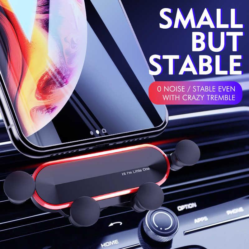 2020 nowy uchwyt samochodowy Gravity na telefon w samochodzie odpowietrznik zacisk mocujący nie magnetyczny uchwyt do telefonu GPS stojak na iphone'a MAX Xiaomi