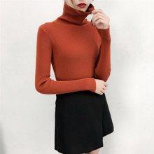 цены на 2019 Spring Base Shirt Unlined Upper Garment Woman Thin Sweater Long Sleeve Shirt Slim Tops female Turtle Neck Pullover  в интернет-магазинах