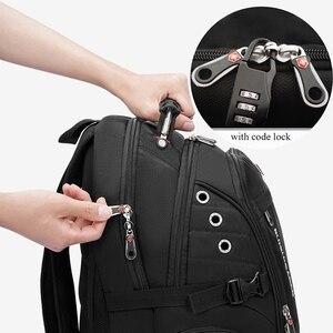 Image 2 - 2020 Waterproof 17 Inch Laptop Backpack Men USB Charging Travel Backpack Women Oxford Rucksack Male Vintage School Bag mochila