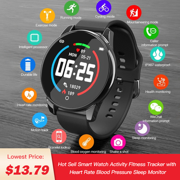 2020 Smart Watch for Women Men ,Color Screen Activity FitnessTracker with Heart Rate Monitor ,Sleep Tracker,GPS Tracking,C