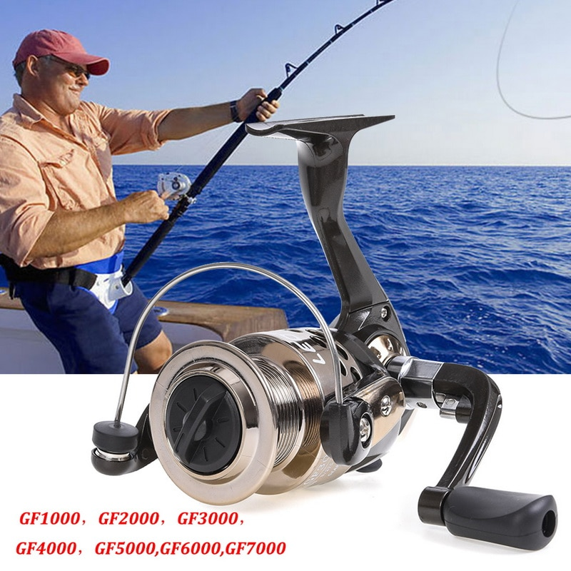 1Day Ship Archer 5.2:1 4.9:1 Spinning Reel Max Drag 13Kg 8+1BB Carp Fishing Reel 2000-6000 Aluminium Spool Spinning wheel carret