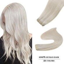 Пряди для наращивания волос Ugeat, пряди из натуральных волос 14-24 дюйма, 100 г, 23 Цвета