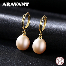 2019 New 925 Sterling Silver Natural Freshwater Pearl Drop Earrings For Women Jewelry Gifts