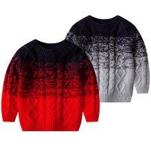 Новый модный свитер для мальчиков уникальный дизайн Осенняя