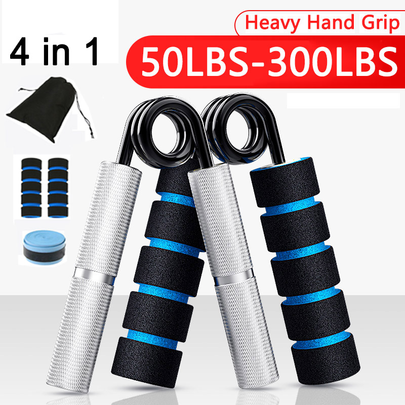 Heavy Hand Grip Rehabilitation Forearm Arms Muscle Trainer Aluminum Material Expander Fitness Wrist Finger Gripper Strength