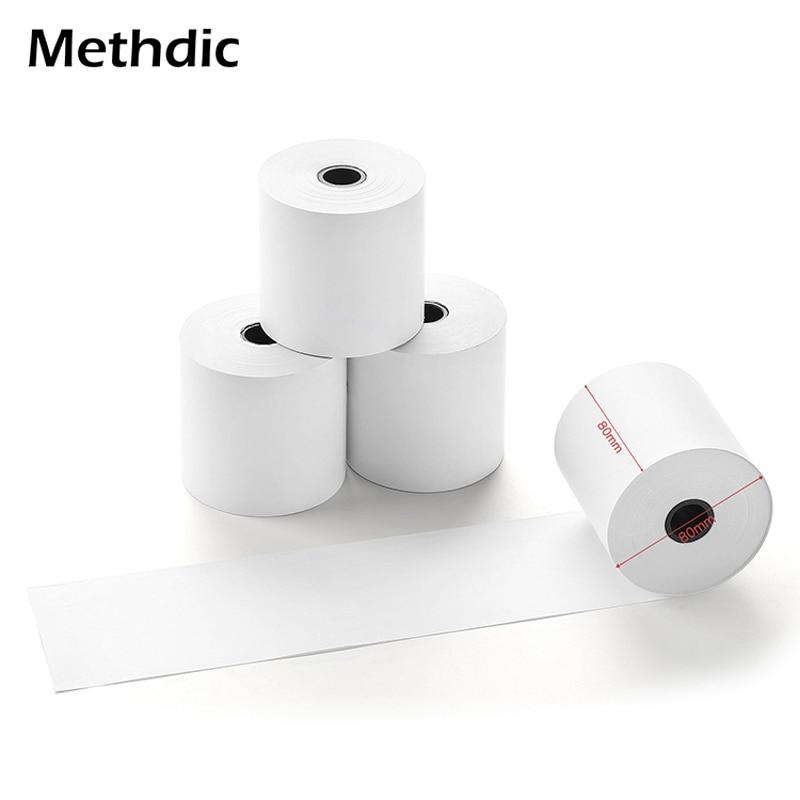 Methdic 10rolls 80x80mm Thermal Roll Paper Bill Ticket Printing For Cash Register