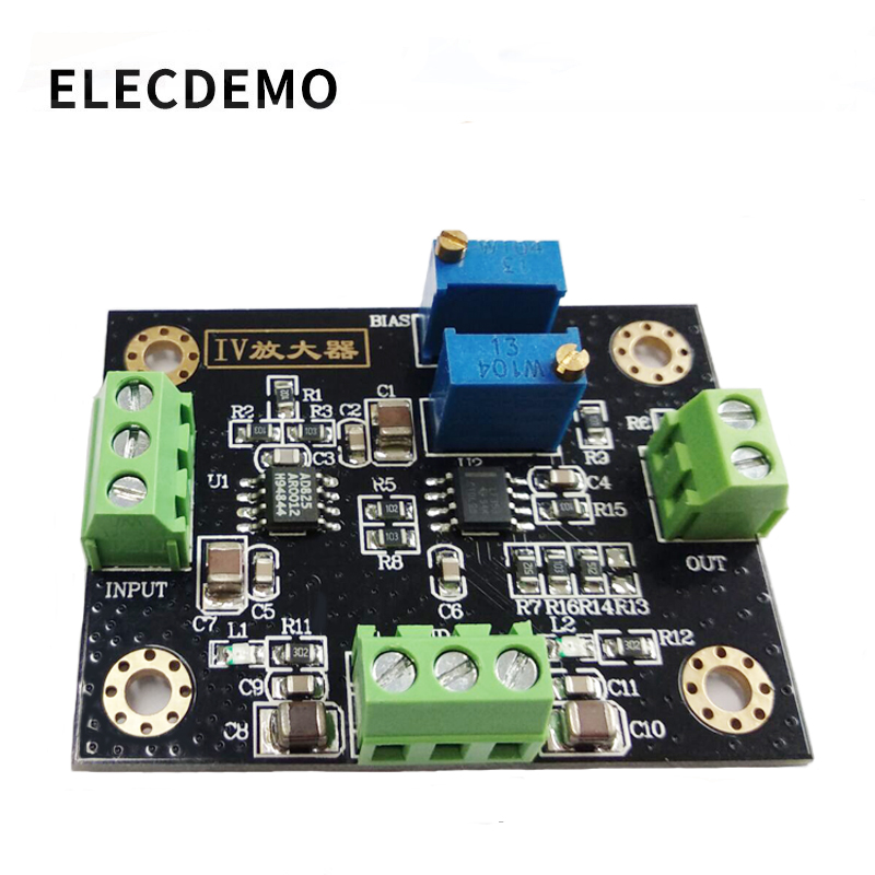 IV Conversion Amplifier Voltage Signal Amplification Photoelectric Amplifier Module Current To Voltage