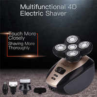 5 In 1 Men's 4D Electric Shaver Rechargeable 5 Floating Heads Beard Nose Ear Hair Trimmer Bald Head Razor Clipper Face Brush44