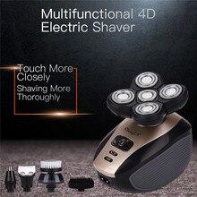 5 w 1 męska 4D golarka elektryczna akumulator 5 ruchome głowice broda nos trymer do uszu łysy głowy Razor Clipper twarzy Brush44