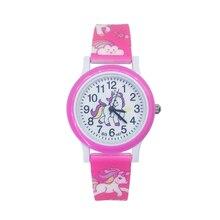 Children Cute Unicorn Watch Cartoon Pony Girls Child Clock Student Sports Kids