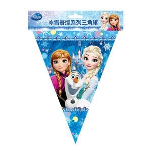 Image 3 - Disney 71pcs Frozen Princess Snow Queen Theme Happy Birthday Party Decorations Kids Girl Party Supplies Decor Tableware Set