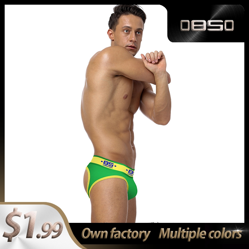 Ins Style Camouflage Cotton Quick Dry BS Gay Men Sexy Underwear Thong Men Jockstrap Mens Underpants Mens Thongs And G Strings