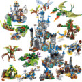 Строительный блок для эльфов: война славы, замок, рыцари, боевой бункер, развивающие кирпичи, игрушка, подарок для мальчика