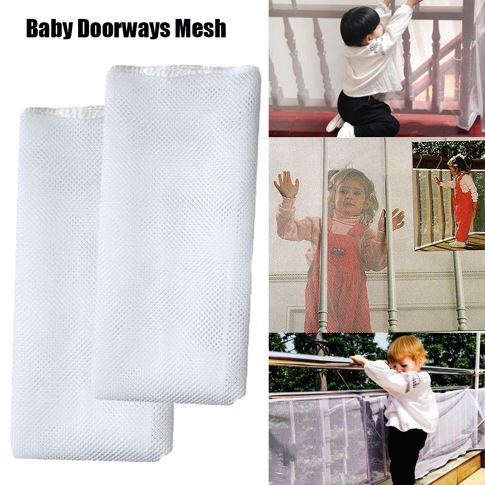 Large Size Safety Net Child Guard Kids Baby Stair Balcony Deck Gate Doorways Mesh 200x74cm Or 300X74cm For Children Safety Care