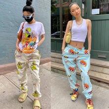 Брюки chocomist Повседневная Уличная одежда хип хоп брюки женские