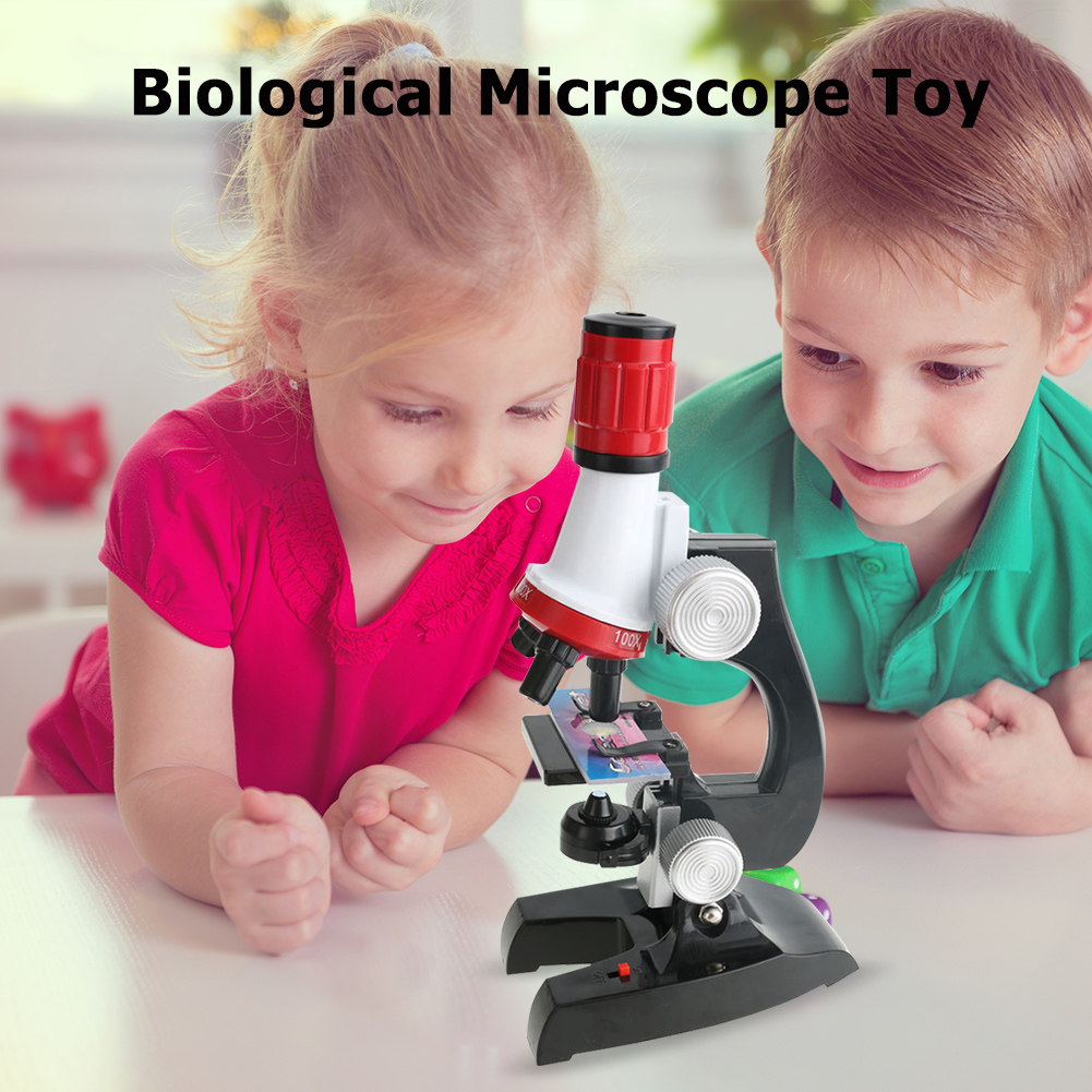 100X/400X/1200X Biological Microscope Home School Kids Science Educational Toys For Children Home School Supplies