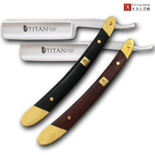 Titan Wood Handle Men Shaving Tools Hair Razor Stainless Steel Straight  Razor Free Shipping