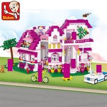 цены 726Pcs Pink Dream Sunshine Villa Model LegoINGLs Friends Building Blocks Sets Bricks Educational Toys for Girls Christmas Gifts