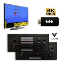 8Bit 4K HDMI Video Game Console Built in 568 Classic Games Mini Retro TV Console Box Wireless Controller HDMI Output Dual Player