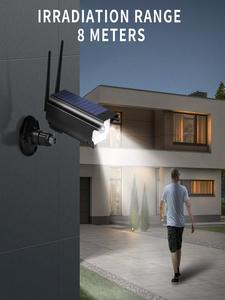 A-ZONE Dummy-Security-Camera Led-Light Cctv-Fake Surveillance Solar Waterproof Outdoor