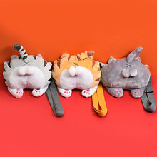 Cute 3D Chibi Corgi Butt Cross Body Bag Funny Shiba Cat Ass Bum Stuffed Animals Filled Stitch Soft Toys Bag(China)
