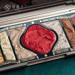 Paleta de sombras de ojos flor oeste brillo mate hecho a mano Natural China cosméticos belleza glaseado sombra de ojos paleta de maquillaje Florasis
