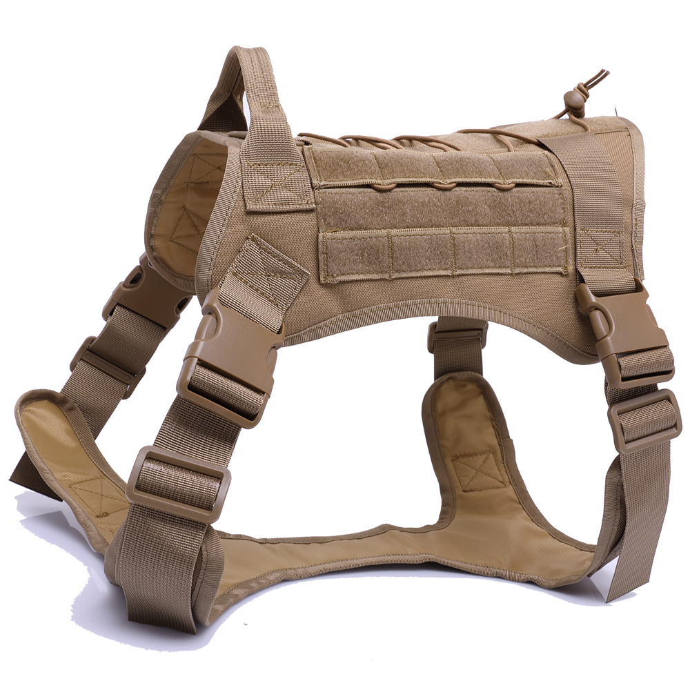 Apparel - Military Tactical Dog Harness German Shepherd Pet Dog Vest Harness For Small Large Dogs