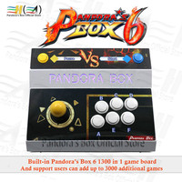 2020 Pandora Box 6 1300 in 1 single console arcade game machine joystick Can add 3000 FBA MAME PS1 games 3d tekken Mortal Kombat