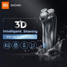 Afeitadora eléctrica recargable lavable Xiaomi ENCHEN BlackStone3 IPX7 a prueba de agua con indicador de batería para Barba de afeitar