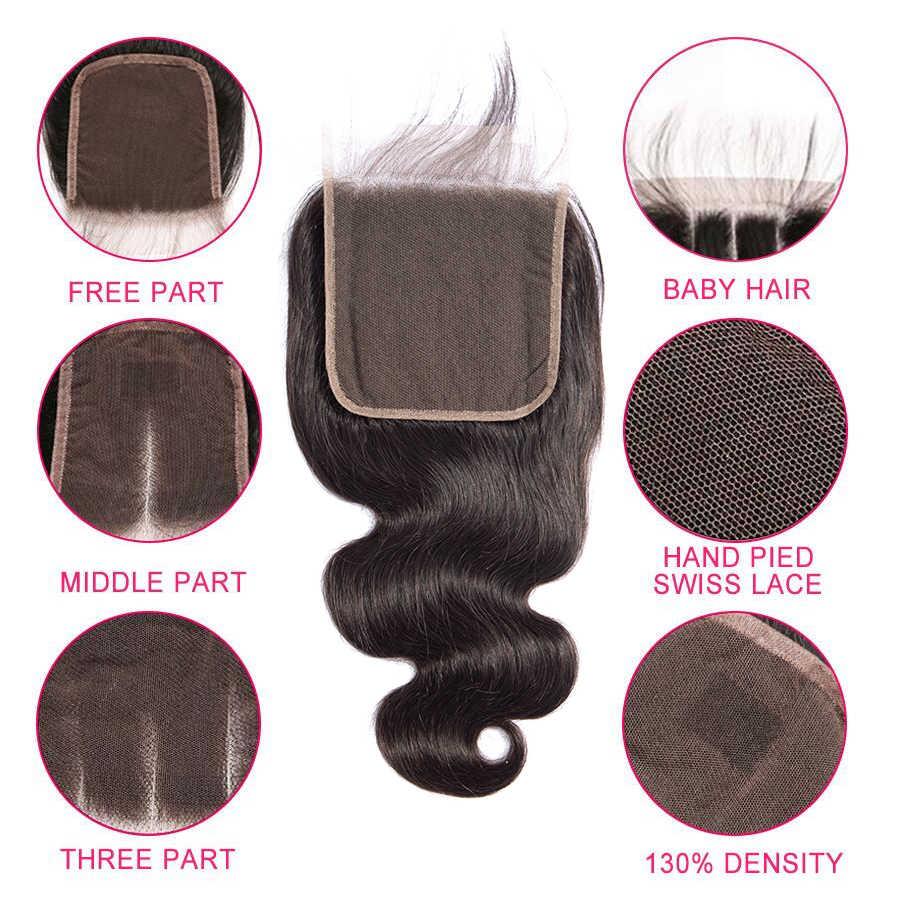 6x6 Schließung Und Bundles 30 Zoll Menschliches Haar Körper Welle Bundles Mit Verschluss 5x5 Verschluss Mit bundles Brasilianische Haarwebart Bundles