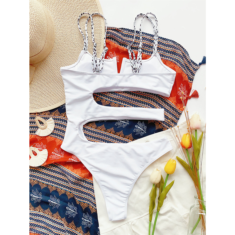 ºCloseout DealsSwimwear Bodysuit Beachwear Monokini Push-Up Sexy Hollow-Out V-Neck Women One-Piece