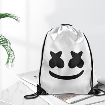 Canvas Backpack Cute hot dj Cosplay DJ Marshmello Cos Halloween Costumes Daily Knapsack Student Bag White Hot