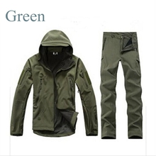 Softshell Shark Skin Mens Tactical Military Uniform Hunting WaterProof Jacket+Pants Combat Army Camouflage Clothes