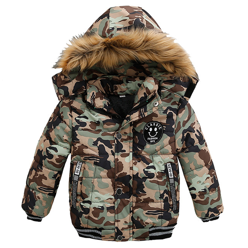 Winter Baby Boys Warm Jacket Fashion 1-5 Years Boys Coat Casual Autumn Hooded Thick Outerwear Coat For Boys Children Clothing