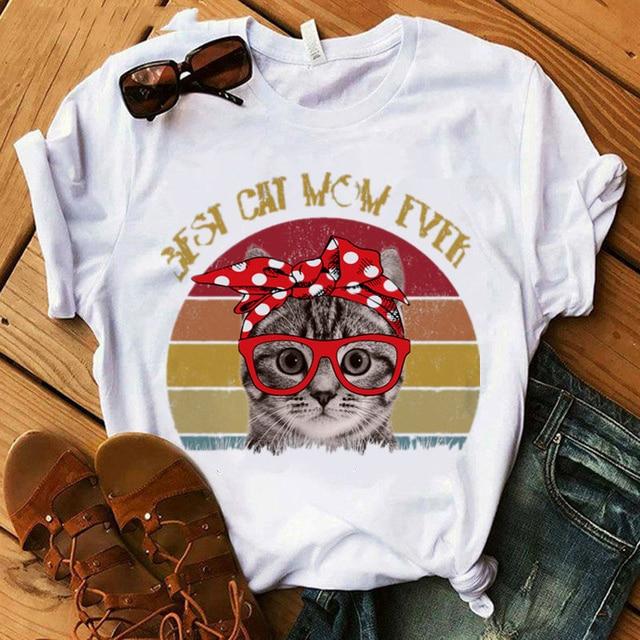 Cat Mom Women's T-Shirt  6