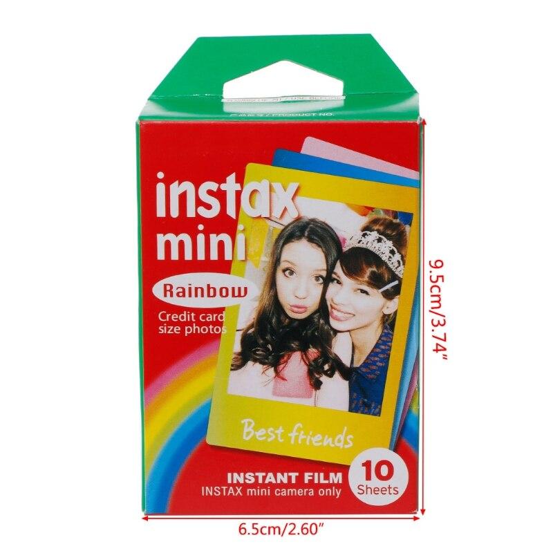 10 Sheets Rainbow Lace Instant Photo Paper Mini7 8 25 70 90 Polaroid Camera Film D08B
