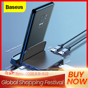 Image 1 - Baseus Type C HUB Docking Station For Samsung S10 S9 Dex Pad Station USB C To HDMI Dock Power Adapter For Huawei P30 P20 Pro