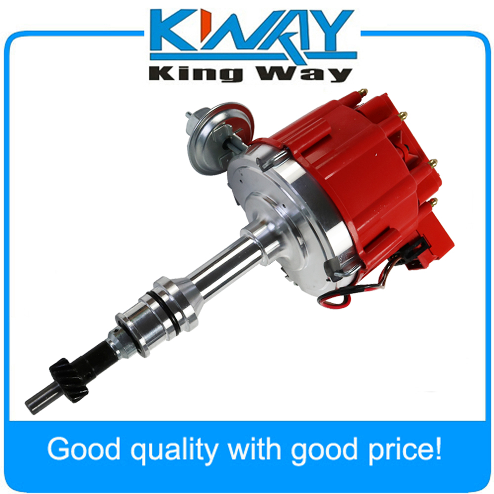 Red Cap HEI Distributor w// 65K Coil  For Chevy GM Small Block Big Block