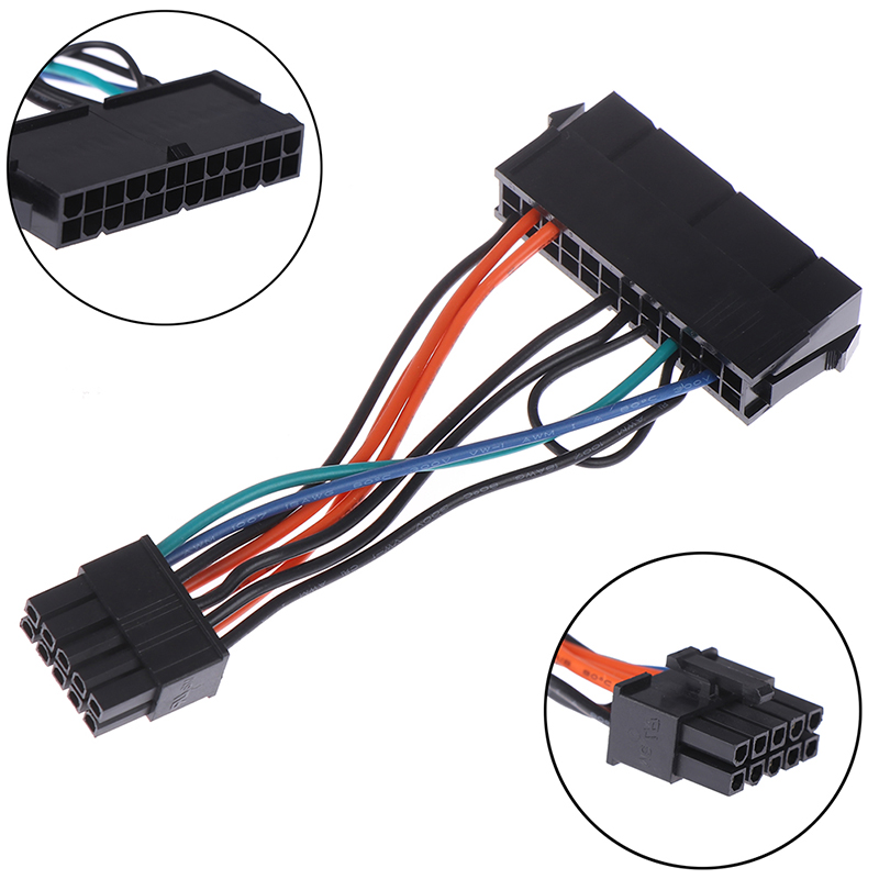 <font><b>24</b></font>-<font><b>Pin</b></font> Female to 10-<font><b>Pin</b></font> Male Adapter Power Supply <font><b>Cable</b></font> Cord for Lenovo 10PIN Motherboard 10cm image