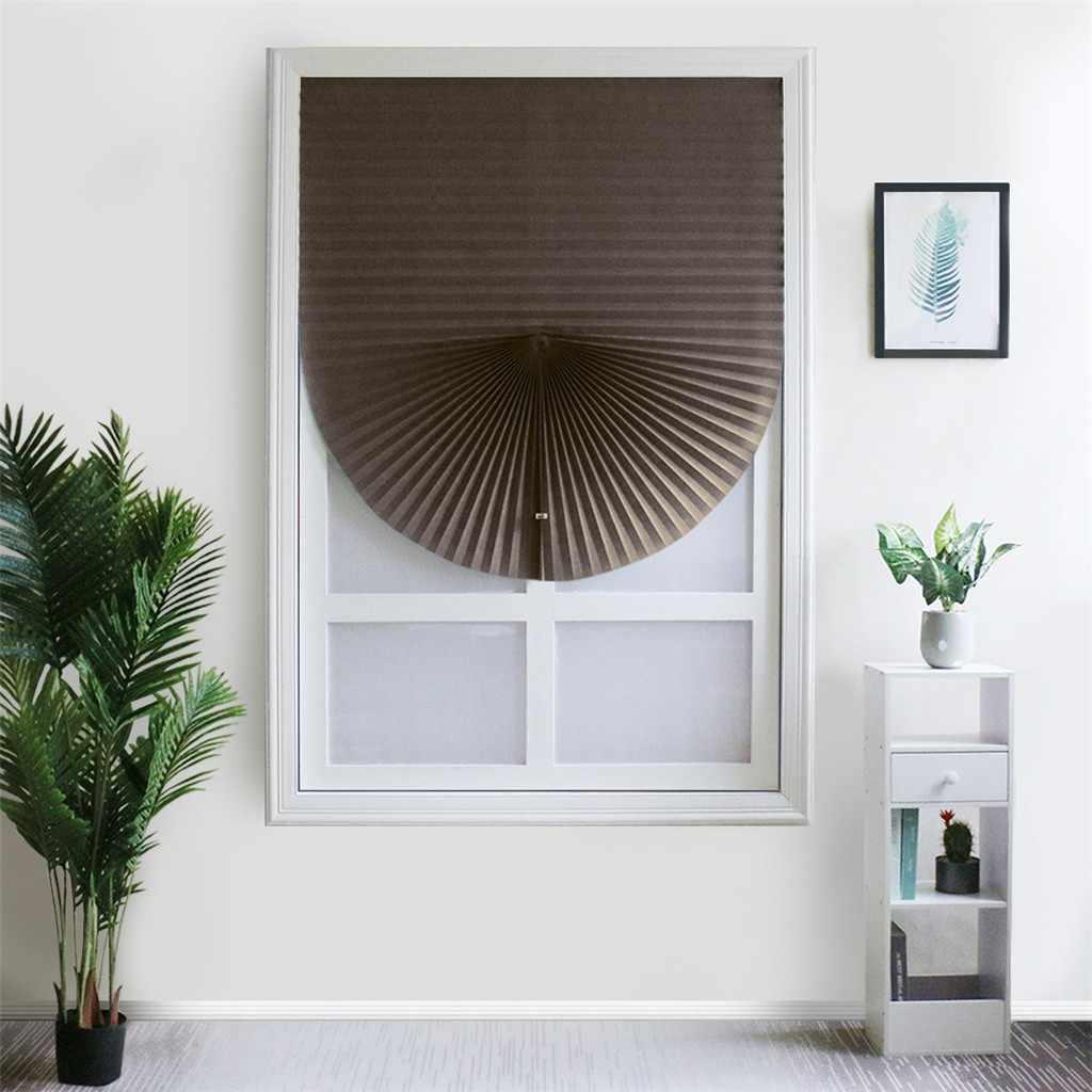 Auto-adesivo cortinas plissadas metade blackout janelas para banheiro varanda tons para sala de estar porta da janela casa # y5