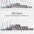 TouchNew художественный маркер, двусторонние чернила на спиртовой основе, нейтральный серый цвет, скетч серые тона для графического рисования