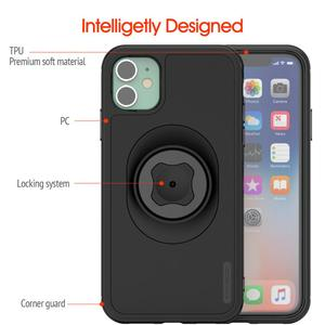 Image 5 - Велосипедный держатель для телефона с зажимом для ремня, с чехлом для быстрого крепления, для iphone 11 pro XsMax 8 Plus 7 6 6s 5s SE, крепление для велосипеда, черный