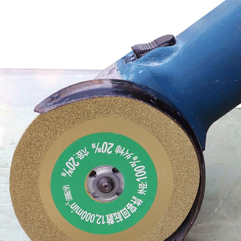 1 Pcs 100mm Diamond Saw Blades Disc Wheel Glass Ceramic Cutting Wheel For Angle Grinder SEP99