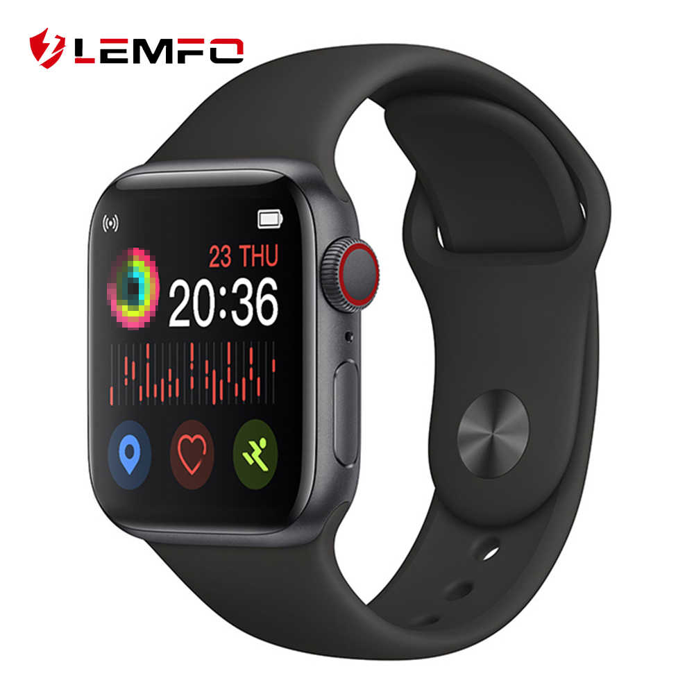 LEMFO 1.54 Pollici Full Touch Smart Vigilanza Delle Donne Degli Uomini di Chiamata Bluetooth Heart Rate Monitor Musica Smartwatch Per Android IOS di Apple telefono